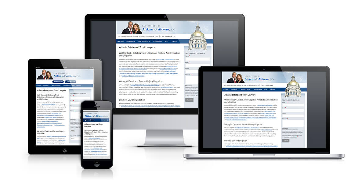 Aitkens Law Firm responsive web design