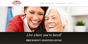 Brickmont Assisted Living website