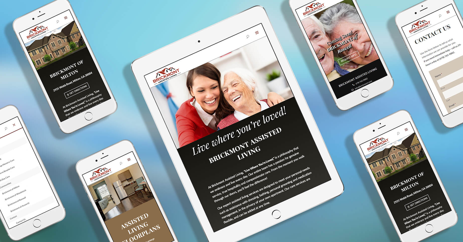 responsive web design screenshots