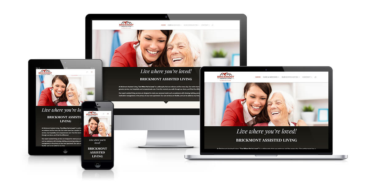 Brickmont Assisted Living responsive website design