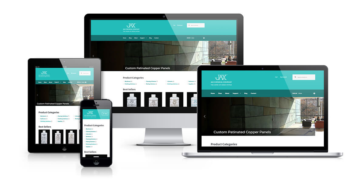 JAX Chemical responsive website design
