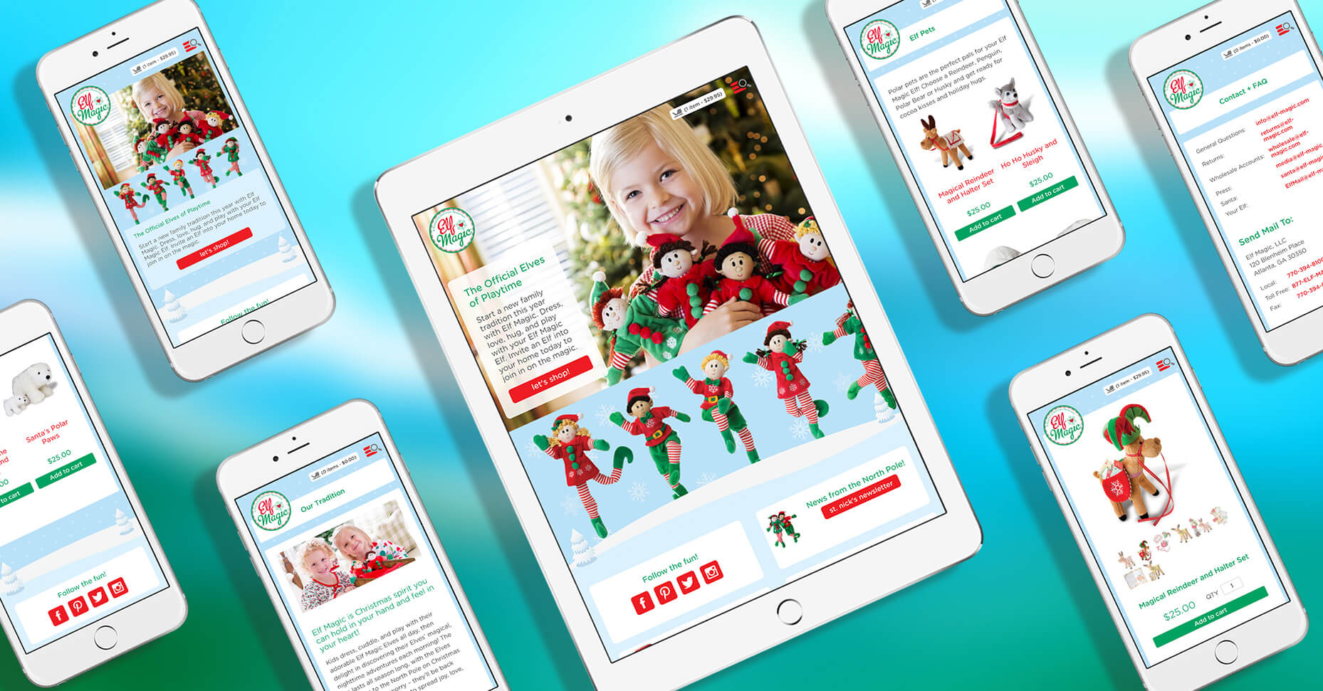 mobile responsive screenshots